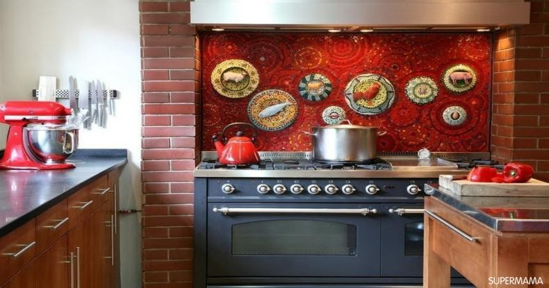 أفكار عصرية لمطابخ باللون الأحمر 4