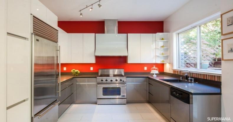 أفكار عصرية لمطابخ باللون الأحمر 3