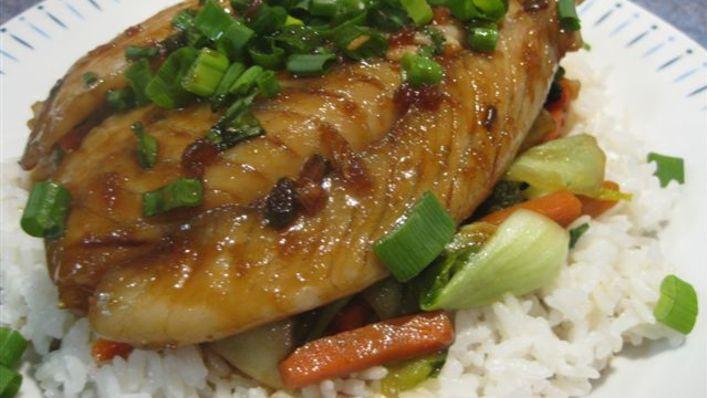 وصفات فيليه السمك - فيليه السمك بالأرز البسمتي