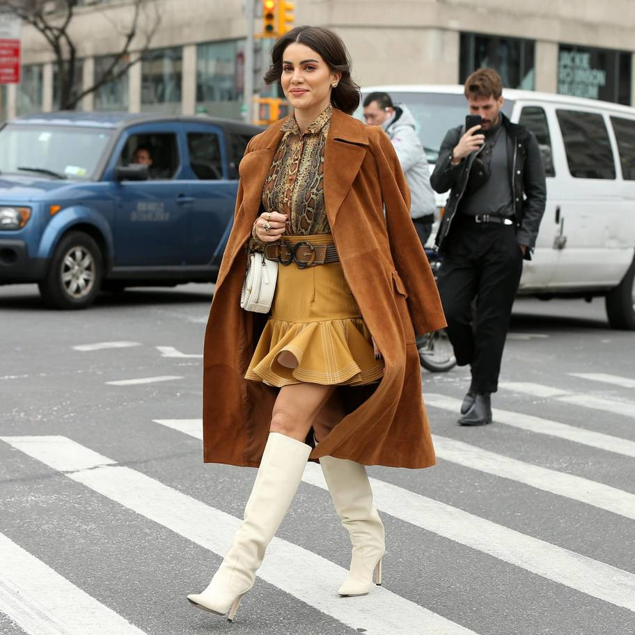 أسبوع الموضة في نيويورك - المعاطف الشامواه