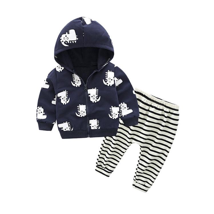 ملابس أطفال حديثي الولادة - طقم أولاد قطعتين
