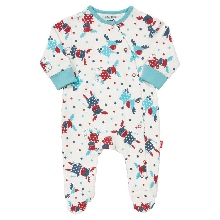 ملابس أطفال حديثي الولادة - سالوبيت أولاد منقوش
