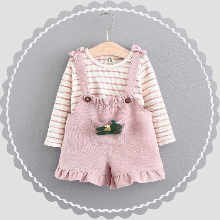 ملابس أطفال حديثي الولادة - سالوبيت بناتي زهري