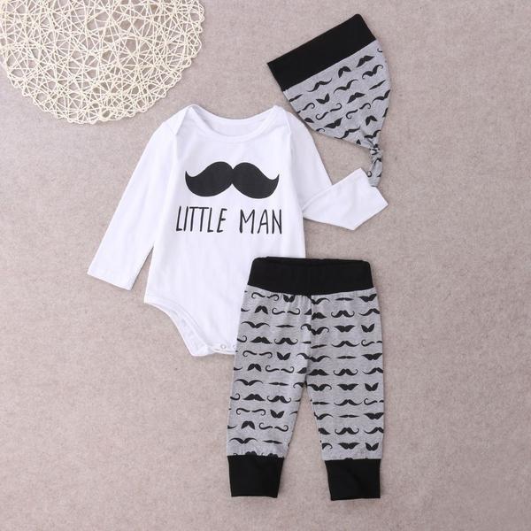 ملابس أطفال حديثي الولادة - طقم أولاد 3 قطع