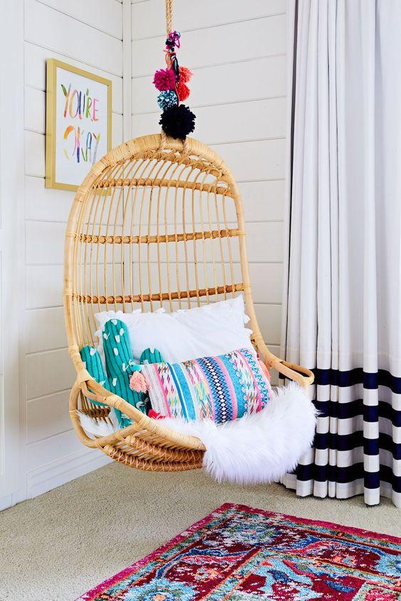 صور غرف نوم أطفال - أرجوحة داخلية للاسترخاء