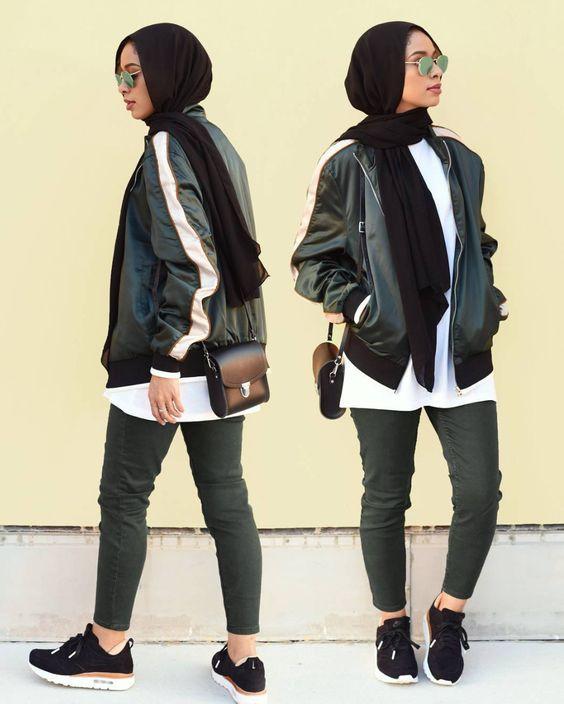 ملابس بنات محجبات مراهقات - جواكيت طويلة للمحجبات المراهقات