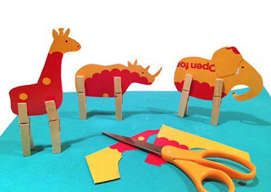 صنع الحيوانات باستخدام المشابك