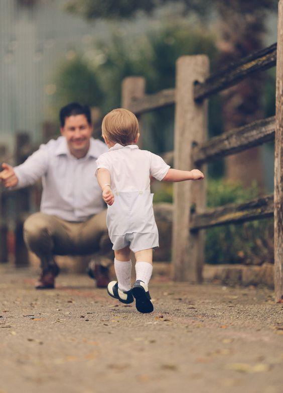 أفكار للصور العائلية - الطفل ووالده