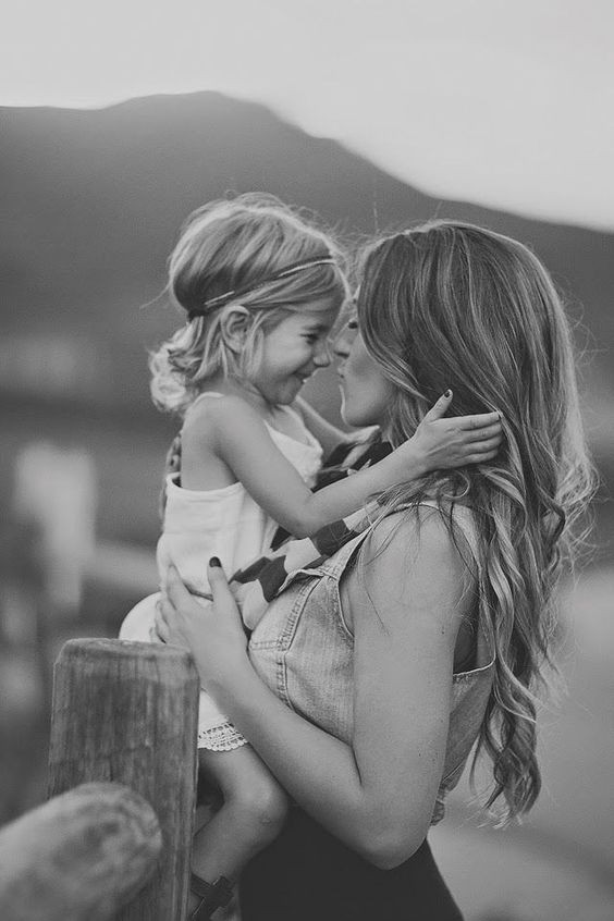 أفكار للصور العائلية - صورة منفردة مع ابنك او ابنتك