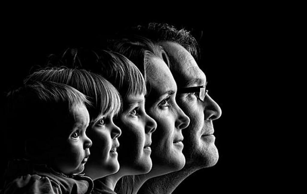 أفكار للصور العائلية - صور أبيض وأسود