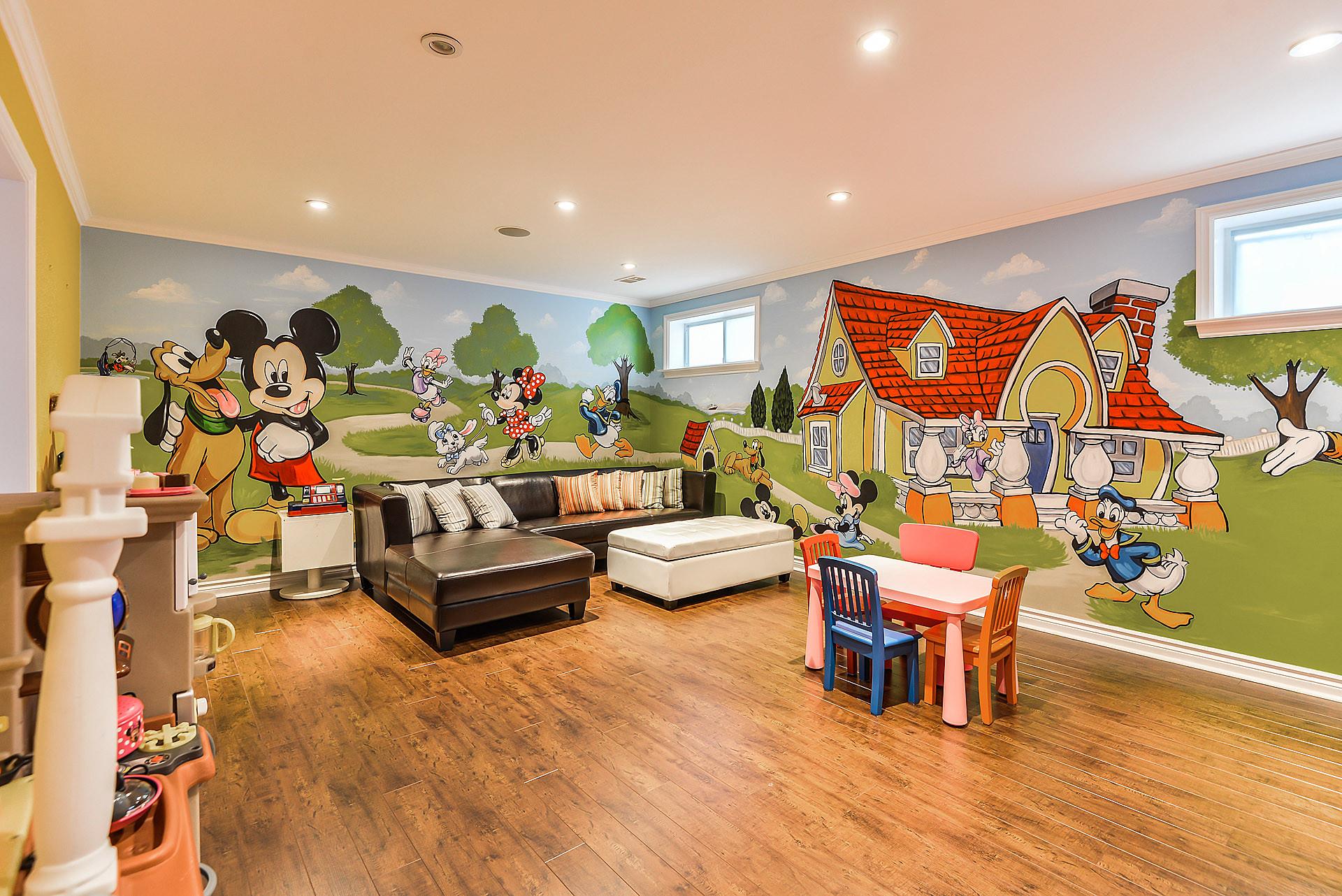 أفكار غرف أطفال - ميكي وبطوط