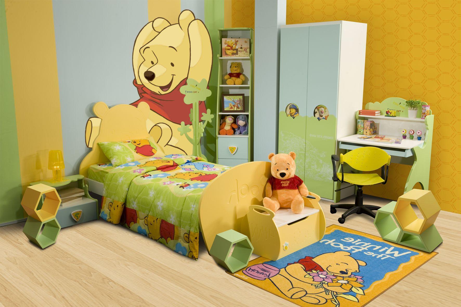 أفكار غرف أطفال - الأصفر وعشاق بوه