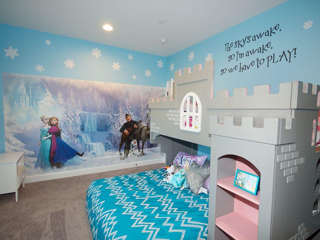 أفكار غرف أطفال - عالم الأميرات في فروزن
