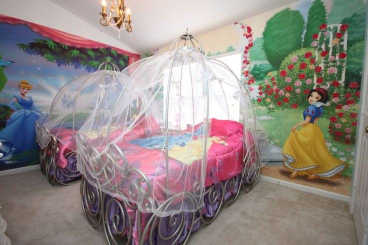 أفكار غرف أطفال-البنات وسندريلا