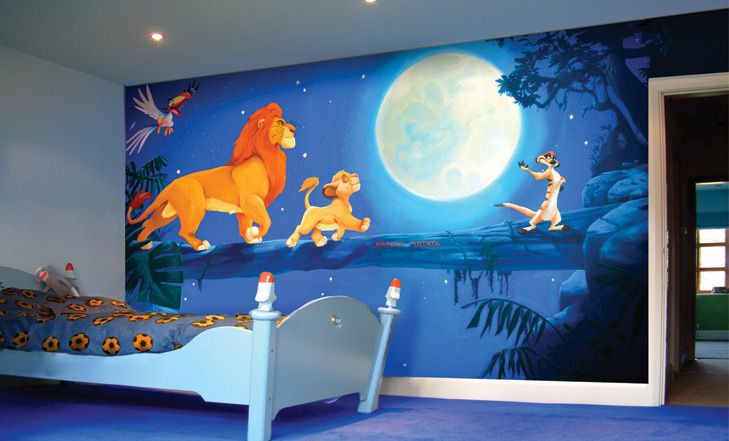 أفكار غرف أطفال - غرفة على طراز فيلم ليون كينج