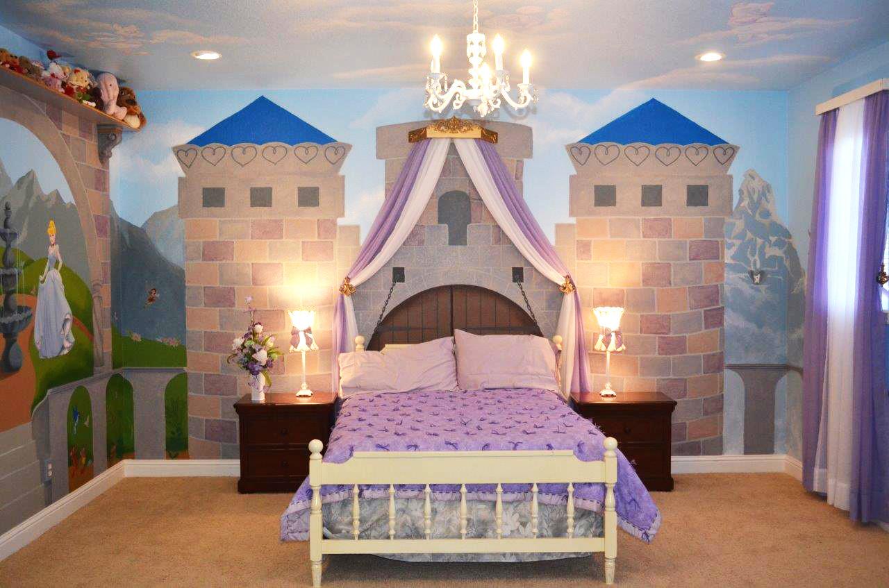 أفكار غرف أطفال - قلعة الأميرة