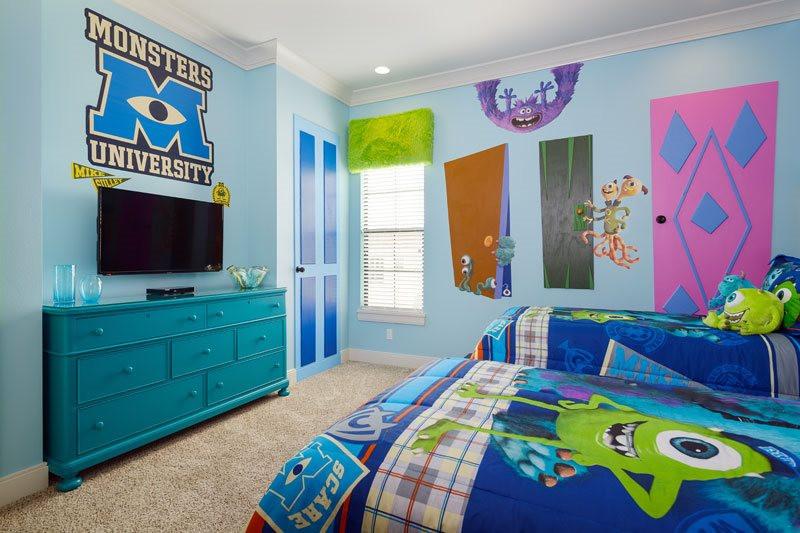 أفكار غرف أطفال - الوحوش وشلبي