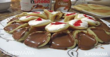 إعداد الحلويات في المنزل - قطايف بالنوتيلا