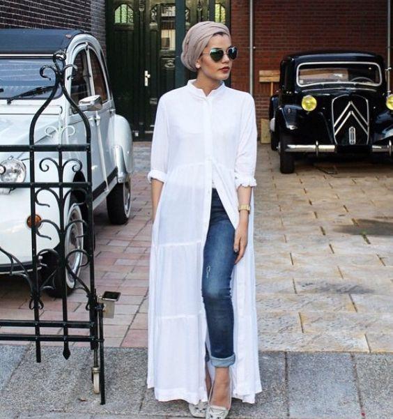 أزياء المحجبات - قميص طويل للمحجبات
