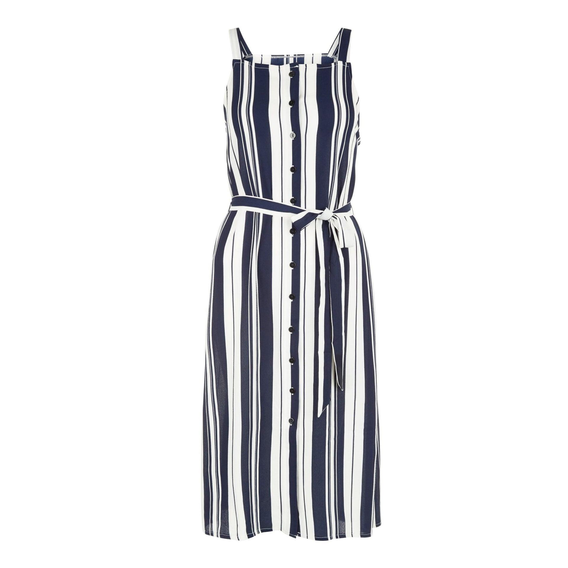 موضة الفساتين الصيفية-الفستان المخطط