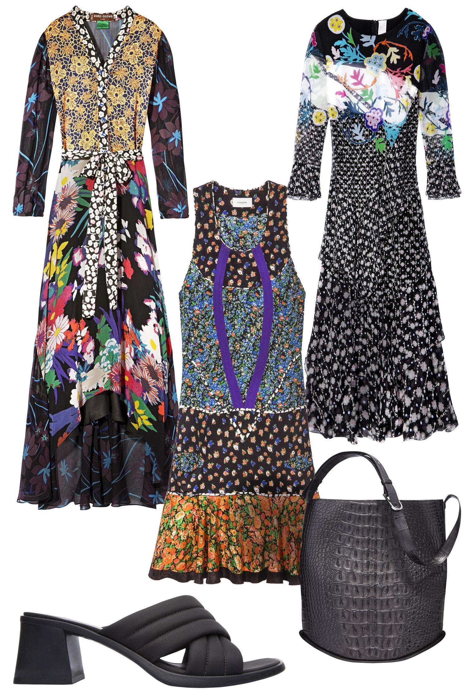 موضة الفساتين الصيفية-فساتين منقوشة
