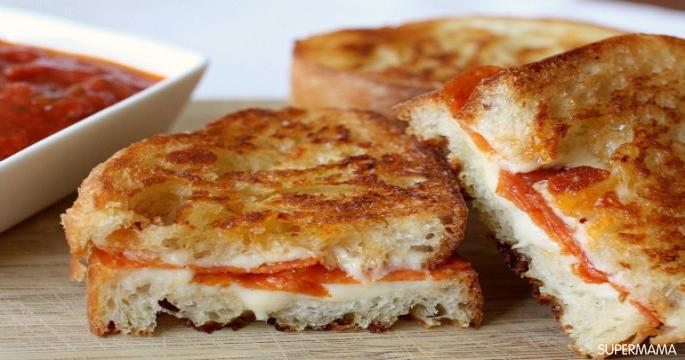 طريقة عمل ساندويش البيتزا المشوي