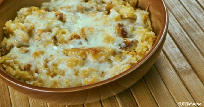 وصفات بالأرز - طريقة عمل الأرز الصيادية بصوص الجبن