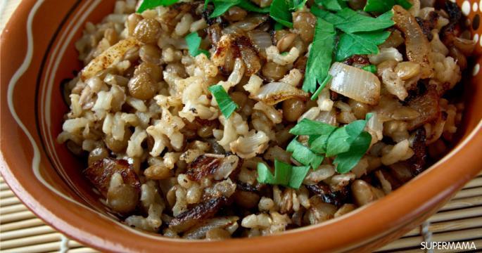 وصفات بالأرز - طريقة عمل أرز بالعدس
