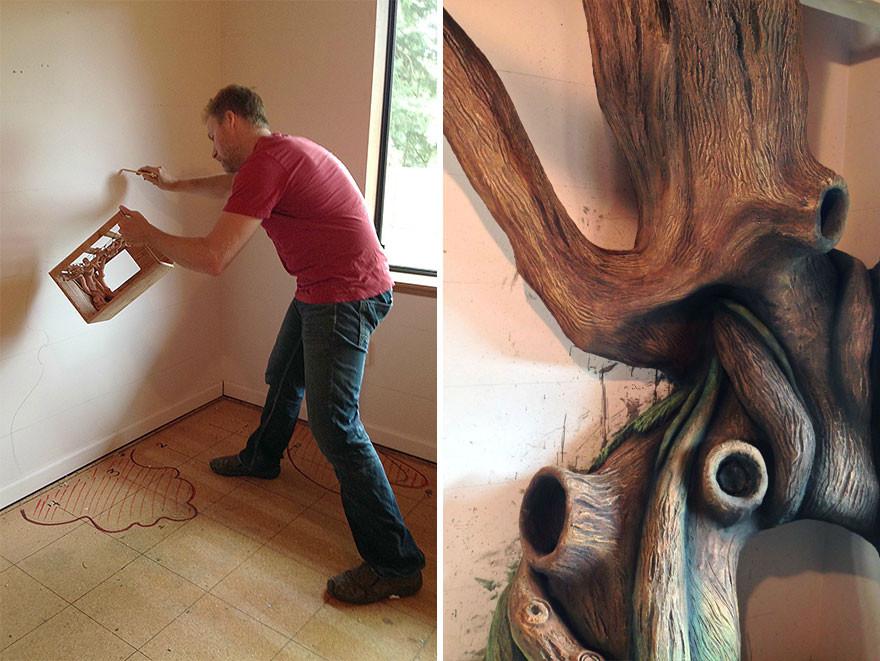 ديكور غرفة أطفال - أب يصمم ديكور لغرفة ابنته