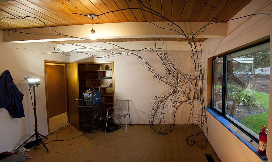 ديكور غرفة أطفال - بناء هيكل صلب في الغرفة