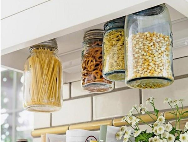 أفكار التخزين المنزلي - أغطية البرطمانات الممغنطة