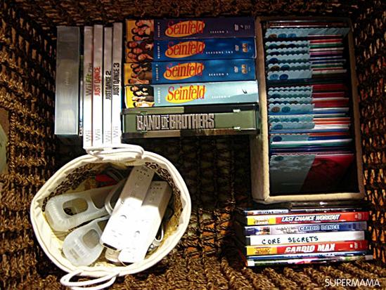 تنظيم أسطوانات الأفلام والمسلسلات