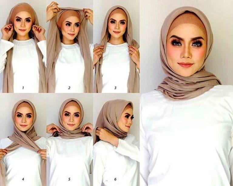 لفات حجاب حسب الوجه