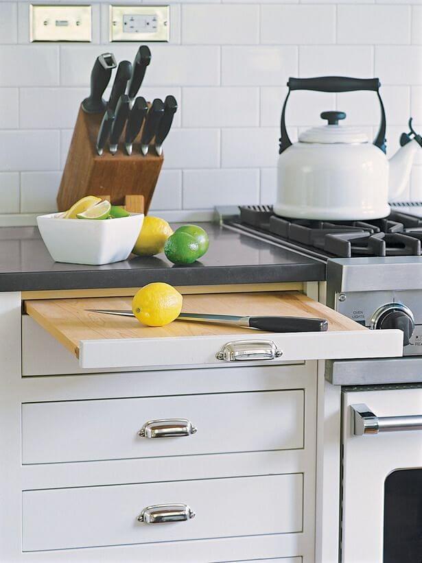 أفكار مطابخ صغيرة - وحدات متعددة الاستخدام