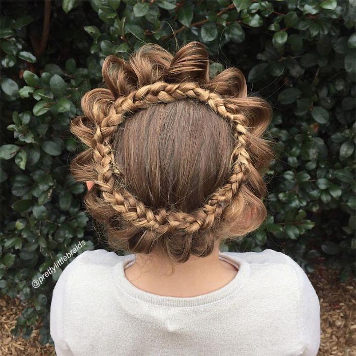 تسريحات شعر مختلفة - ضفيرة للمناسبات