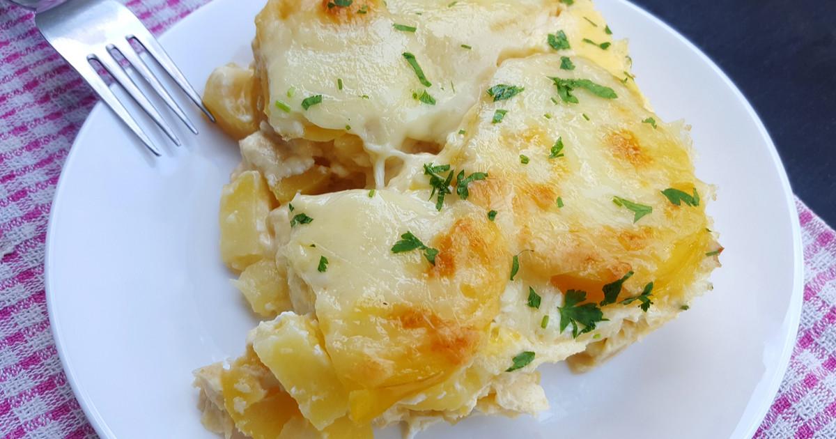 البطاطس المهروسة بالتوابل والجبن