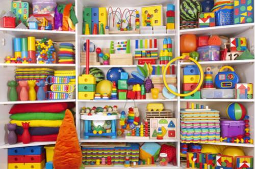 ترتيب ألعاب الأطفال - وحدة أرفف كبيرة