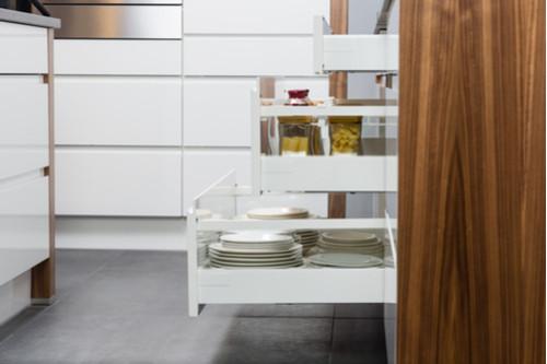 ترتيب المطبخ الصغير - وحدات أدراج