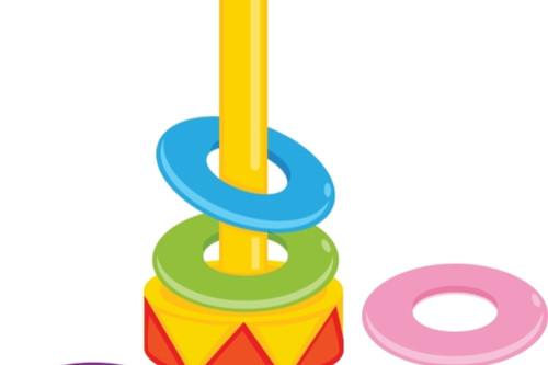 ألعاب أطفال عمر سنتين - لعبة ترتيب الحلقات