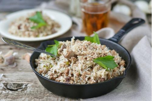 وصفات أرز الياسمين - طريقة عمل أرز الياسمين بالكبد والقوانص