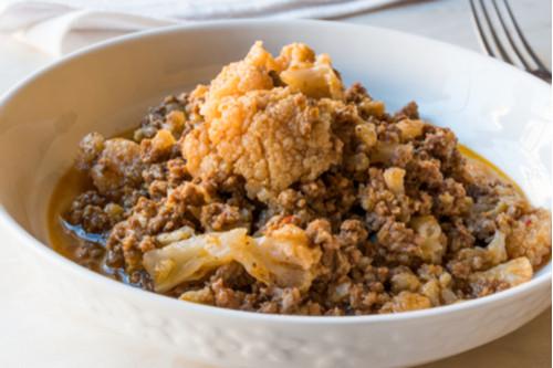 وصفات طواجن - طريقة عمل طاجن القرنبيط باللحم المفروم