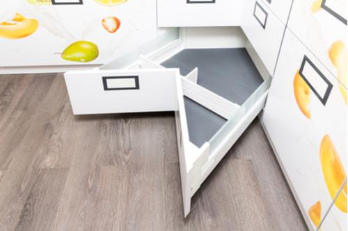 أفكار التخزين المنزلي - الأدراج الجانبية
