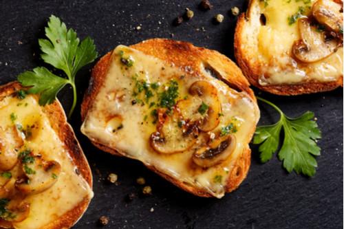 ساندوتشات الجبن للأطفال - طريقة عمل ساندوتش الجبن الريكفورد والمشروم