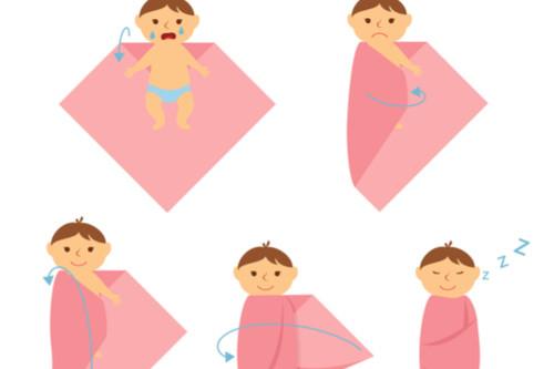 نوم الأطفال الرضع - تقميط المولود
