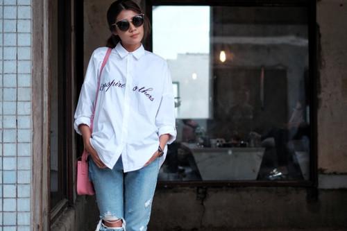 ملابس العيد للنساء - شميز مع بنطلون جينز