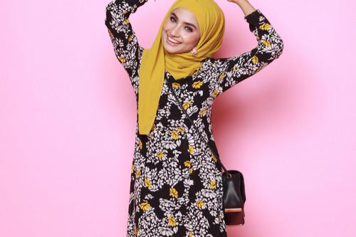 ملابس العيد للنساء - فستان منقوش