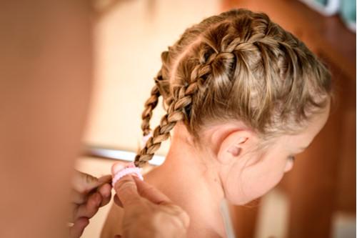 تسريحات شعر للأطفال - ضفيرة السنبلة