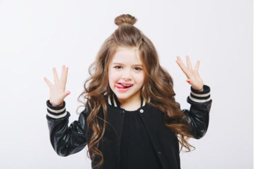 تسريحات شعر للأطفال - كعكة الشعر