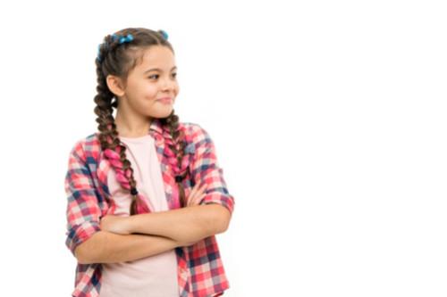 تسريحات شعر للأطفال - الضفيرة الملونة