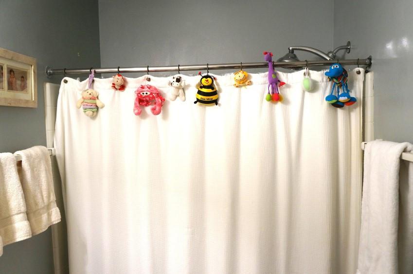 إعادة تدوير ألعاب الأطفال القديمة - ستارة الحمام